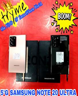 TRYME 5G SAMSUNG NOTE 20 ULTRA 12Gb Ram 256Gb With Warranty fUll Kit