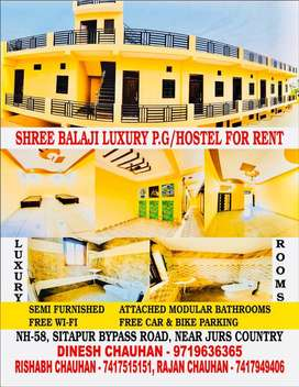 Shree Balaji luxury PG & Guest house Sitapur bypass road.