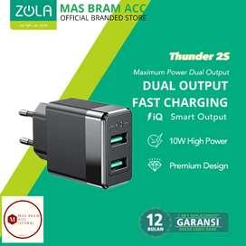 [GARANSI 12 BULAN] Kepala Cas Zola Thunder 2s dual output QUICK CHARGE