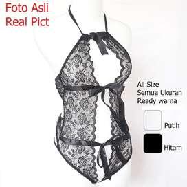 Sexy Lingerie Open Bra G-String Seksi Underwear BH Gstring Terbuka Top