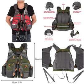 Rompi Pancing Fishing Life Jacket Multi Slot - Green