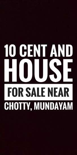 10 cent and house for sale near chotty, mundakayam