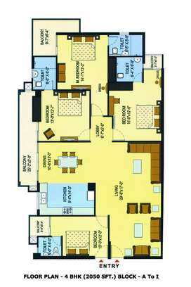 # 4 BHK Premium Apartment for Sale at Jalandhar Heights 1