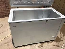 One haier refrigerator one door just like new.