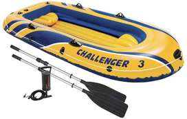 Intex Challenger 3 Inflatable Boat Set With Pump
