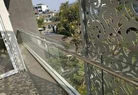 Railing tangga dan balkon stainles kaca #4985
