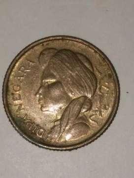014= Uang Koin indonesia 50 Sen Langka Tahun 1952