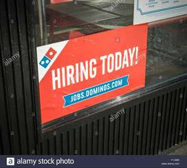 Dominos process hiring for Delivery boys-Biker in Delhi