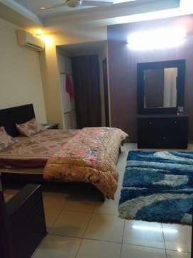 1bed room attch bath furnished falt4rent in bahria town rwp