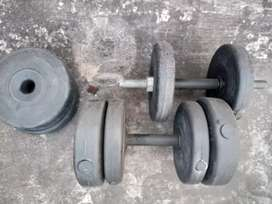 4x2 Kg + 4x3 Kg (Total 20 Kg) dumbbell weight