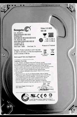 Seagate 500GB Internal Hard Disk Drive. & Sandisk 16GB Pendrive...