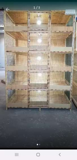 5 portion wood cage with electronic work