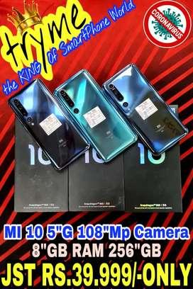 TRYME 256GB 5G MI 10 (108Mp Camera 865Prossercer fUll Kit Box
