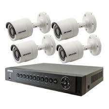 4CH HD CCTV Outdoor camera installation