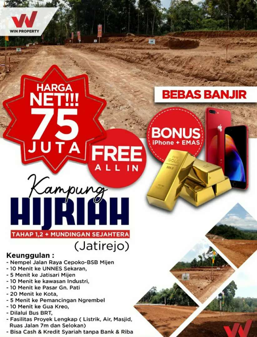 Tanah Murah Dijual di Jatirejo Gunung Pati Semarang Kampung Ramadhan