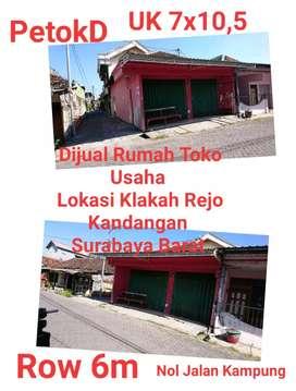 Dijual Cepat Rumah Usaha Nol Jalan Kampung surabaya Barat