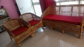 Authentic Cane Sofa 5 seater (3+2) with cusion