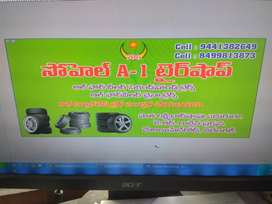 Warangal all car second hand tubeless tyre