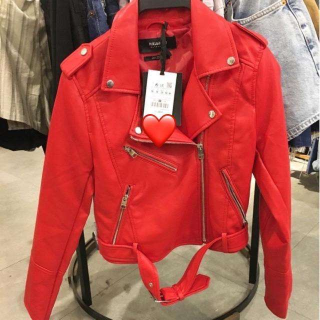 Jaket kulit Bershka ori size L