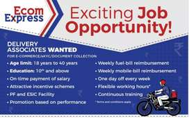 Requirement for delivery boys for Ecom express