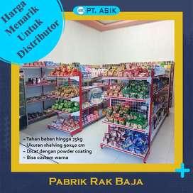 Jual Rak Gondola Minimarket premium 3 double