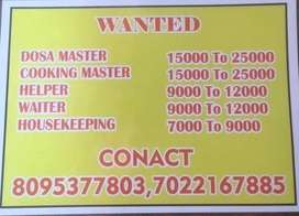 Helper, Dosa Masters, South Indian masters for resturant