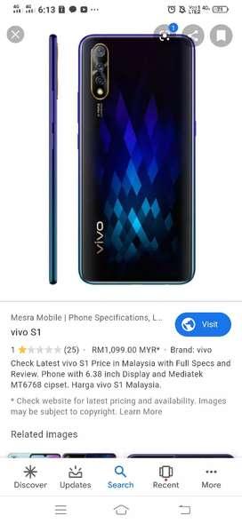 Vivo S1 good mobile very fast mobile