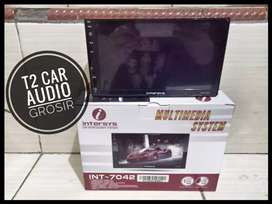 INTERSYS 2din android link led 7inc full hd+camera hd harga grosir