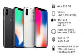 IPHONE X 256GB GREY & SILVER