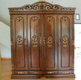 Lemari pakaian pintu 4 kayu jati