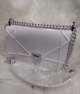 Women Pu leather imported bag with stainless steel chain
