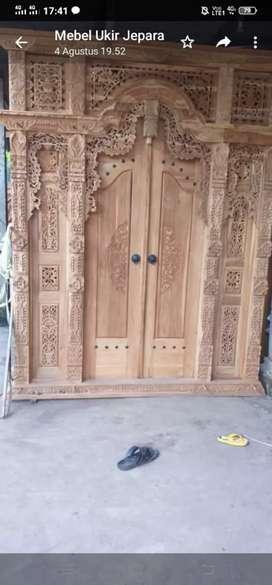 Gebyok 2meter pintu rumah uker bp ulin
