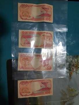 Jual Uang Kertas Lama Rp100,-