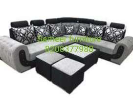 Sameer furniture new stylish sofa set 833