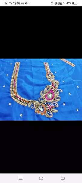 Aari work  work blouse design