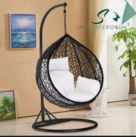 Shizi Egg hanging Swing Chair with Cushion and Stand