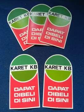 Sticker jadul karet KB