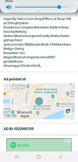 Urgently Shop Sale-108,Railway station road,Bholav,Bharuch,Gujarat