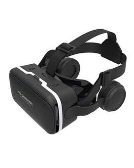 TRAVEL Shinecon 6 Generations 3D VR Glasses Headset With Earphones