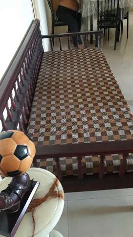 2 family  cots with mattress, one daybed with mattress, dining  table