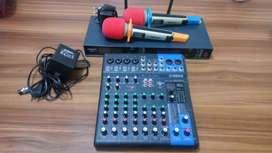 Mixer yamaha dan mic wireless