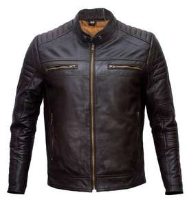 Leather fashion Jacket Brown