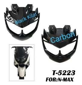 Topeng cover lampu depan nmax model baru hitam dan carbon barang baru