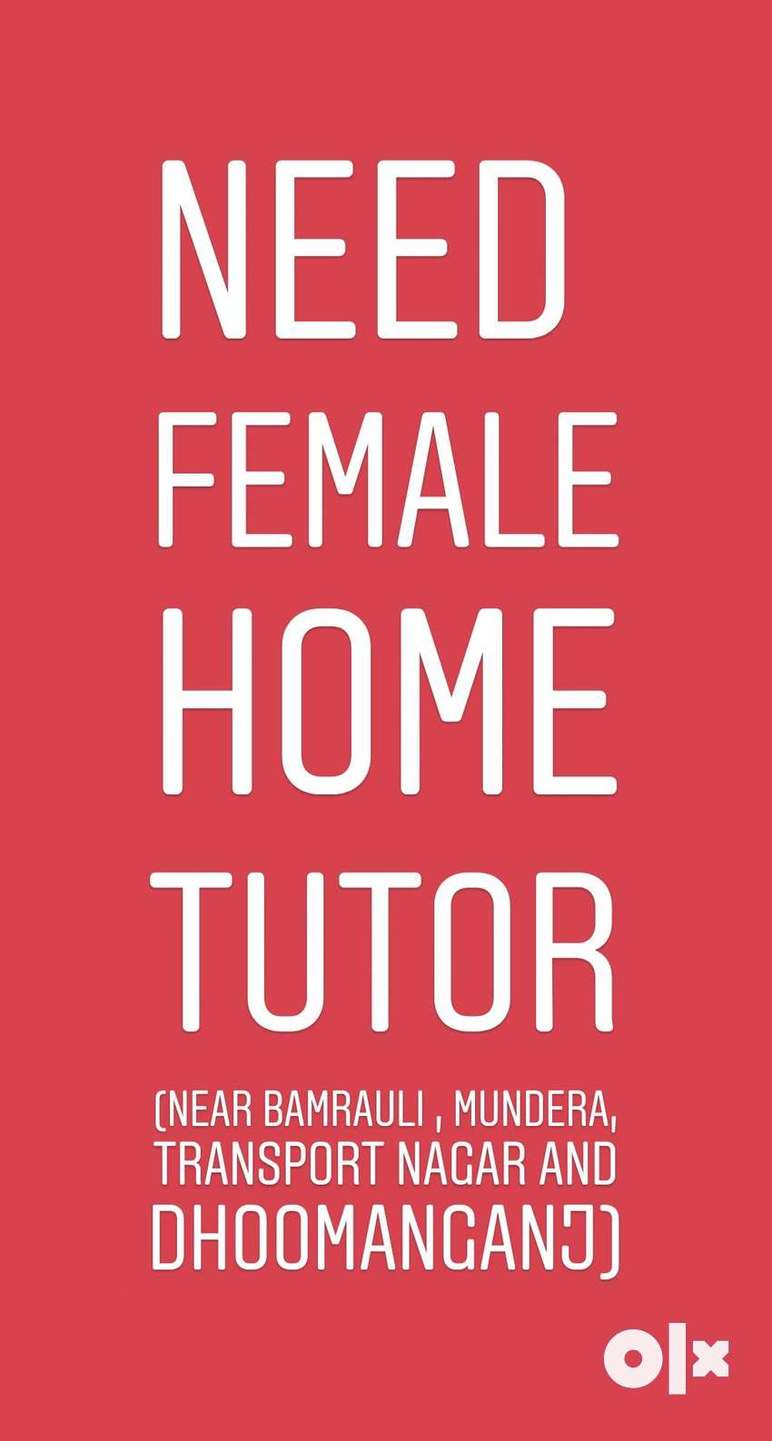Female Home Tutor Available. 0