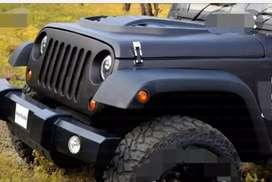 Mahindra modified black wrangler  jeep