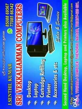 Desktop and laptop sales and service at RS 300 only