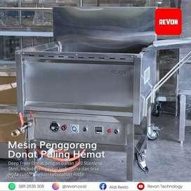 mesin deep fryer gas penggoreng donat otomatis di Padang