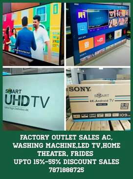 Factory outlet sales led tv,ac, washing machine,home theater, fridges