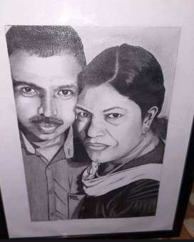 Color pencil portrait drawings of. Your loved one's