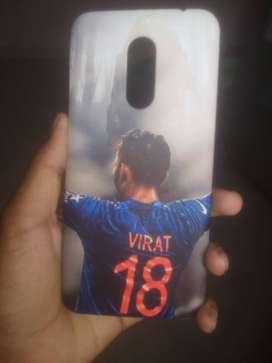 Virat kholi mi note 5 back cover